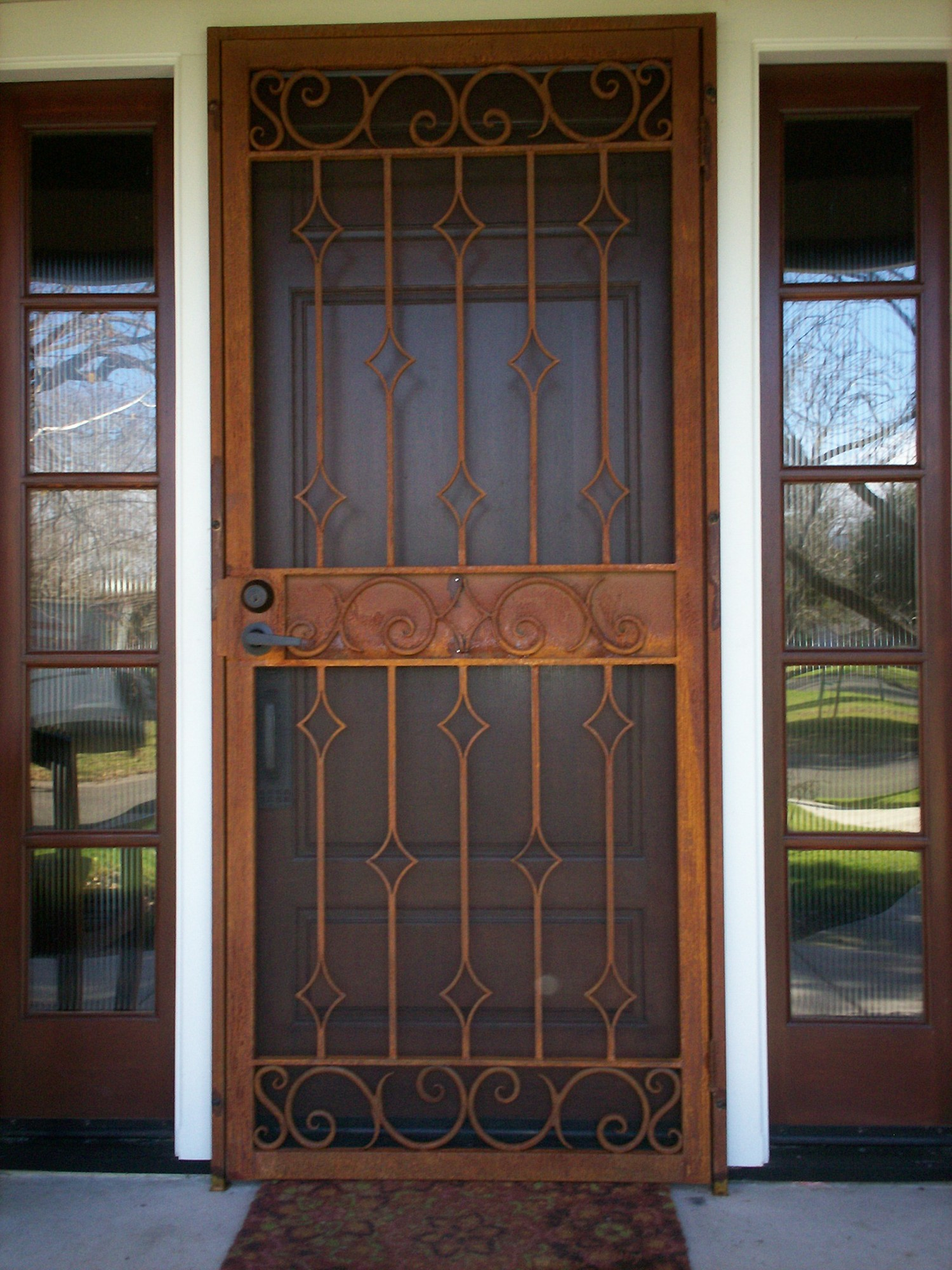 doors a insdecor decorative secure screen best door sliding security home of glass